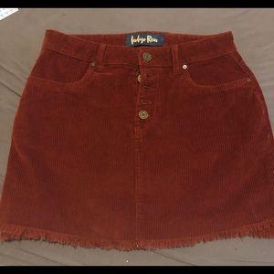 Corduroy Mini skirt, skirt cozy appropriate cute